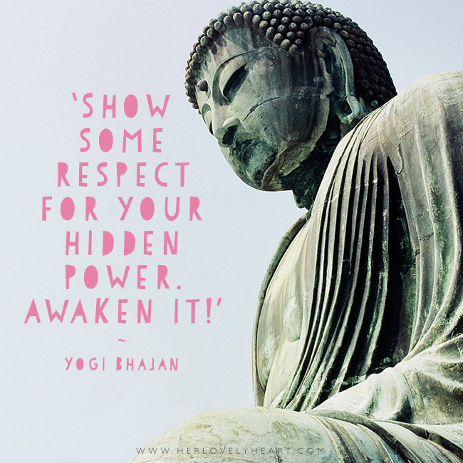 'Show some respect for your hidden power. Awake it!.' Find us on Instagram with the hashtag #hlhinstaquotes