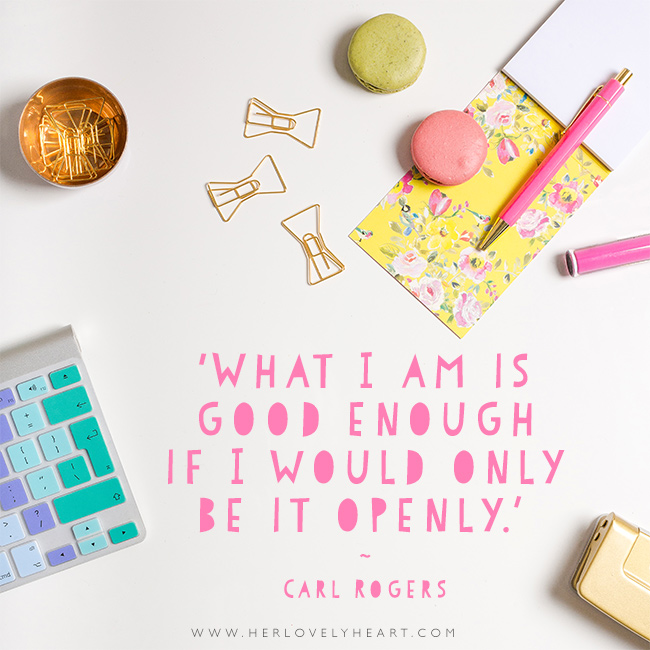 'What I am is good enough is I would only be it openly.' Find us on Instagram at #hlhinstaquotes