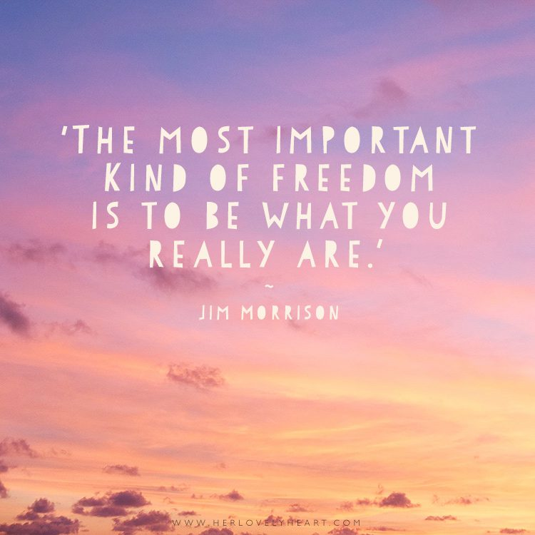 'The most important kind of freedom is to be what you really are.' Find us on Instagram at #hlhinstaquotes