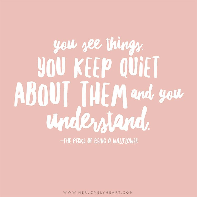 'You see things, you keep quiet about them, and you understand.' Click through for more quotes, and find us on Instagram at #hlhinstaquotes