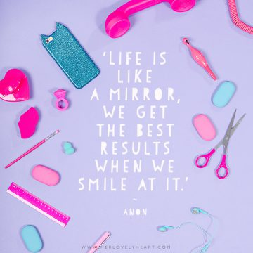 'Life is like a mirror, we get the best results when we smile at it.' Click through for more quotes, and find us on Instagram at #hlhinstaquotes