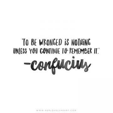 'To be wronged is nothing unless you continue to remember it.' Click through for more quotes, and find us on Instagram at #hlhinstaquotes